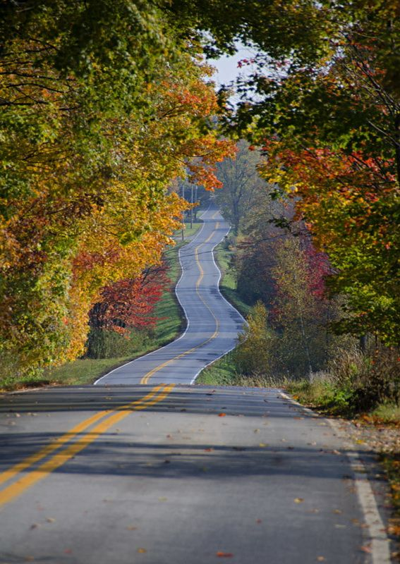 Le chemin St-Armand, Quebec, Canada (by Sergiom).
