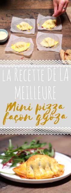 Découvrir la recette de la mini pizza comme des gyozas