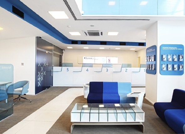 Finansbank | Bank branch Interior Design & ATM Design