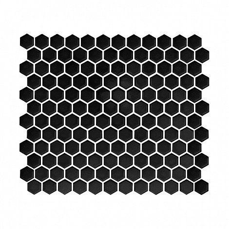 Płytki łazienkowe Heksagon. Hexagon inspiration.Płytki heksagonalne, czarne heksagony