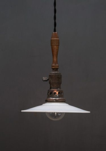 USA, 1920s, Vintage Industrial Handle Torch Atelier Pendant Lights By Factory 20
