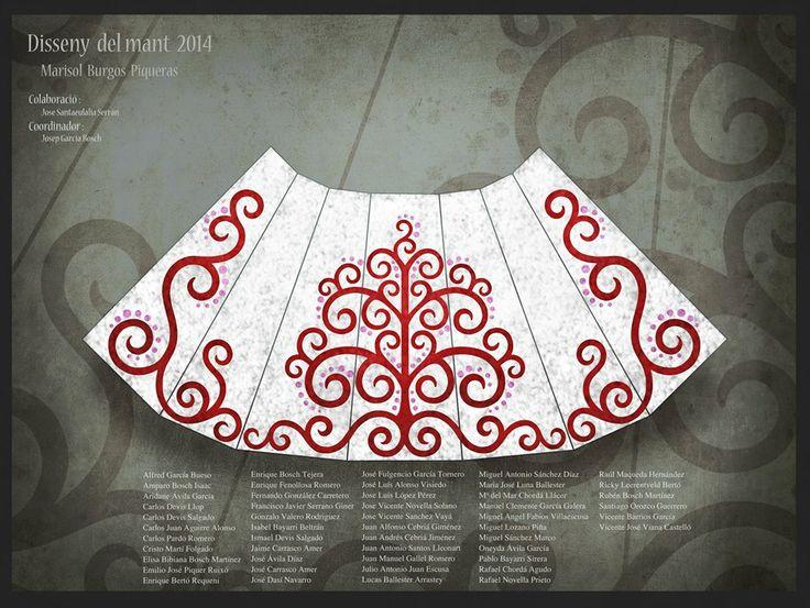 Este es el disseny del mant de flores de la Verge