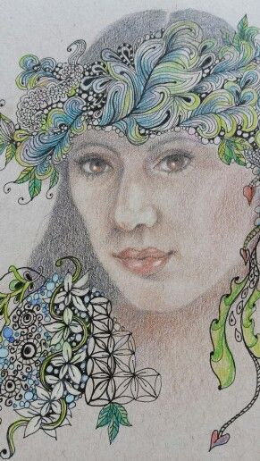 Colored pencil, pen and ink.