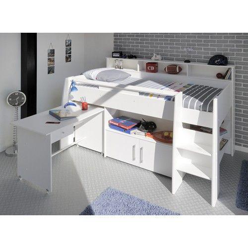 Parisot Kinderzimmer Swan Hochbett mit Schreibtisch 04-weiß - günstig kaufen!