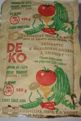 Deko - Deko k nakládání okurek