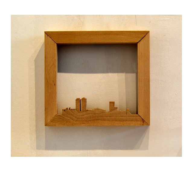 ANTIMARCO VILLA OLIMPICA BARCELONA. #IMO Madera de cerezo, 20x22 cm. Cada pieza es única #Marco #Frame  #barcelona #design