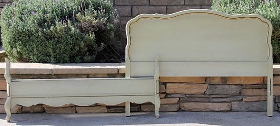 Vintage Chic Double Full  Bed Headboard and by FooFooLaLaChild, $455.00