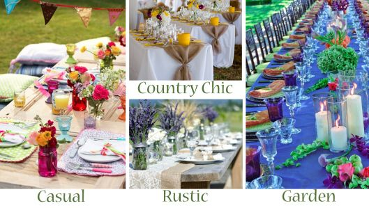 Outdoor Wedding Reception Styles