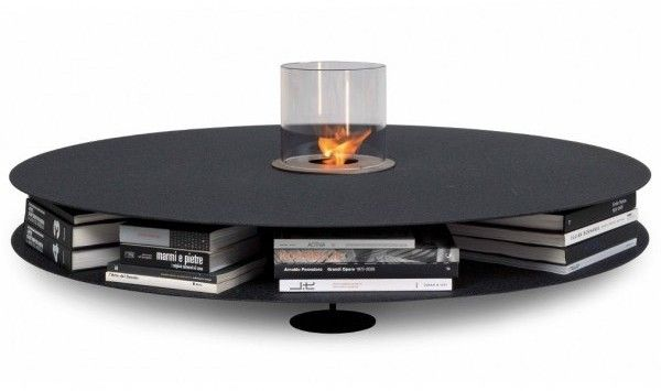 Zerino table by Italian studio AK47 is a fun and multifunctional piece. It can be accessorized with various additional uses according to your changing tastes and necessities. The table can feature a planter, a candleholder or even a small elegant fireplace, thanks to the addition of a ready-to-assemble bioethanol burner kit. The tabletop is not really on a small size, but neither is a storage compartment underneath it, which can hold your books, periodics, w...