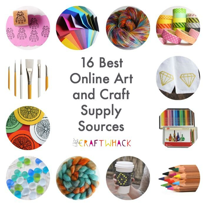 I love these cool places to find art and craft supplies online.