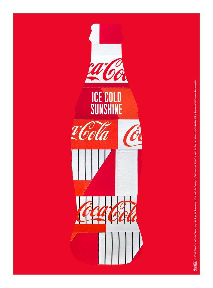 Kiss The Past Hello. Coca-Cola Design: 100 Years of the Coca-Cola Bottle. #MashupCoke by: Darren Romanelli, DRx Romanelli