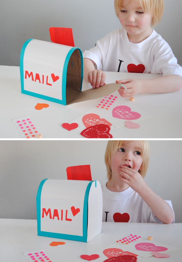 Mail Box DIY with duct tape. Perfect for holding all those Valentine's Goodies.