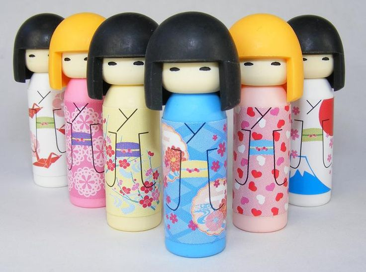 KOKESHI Doll puzzle erasers available in 6 different pattern designs