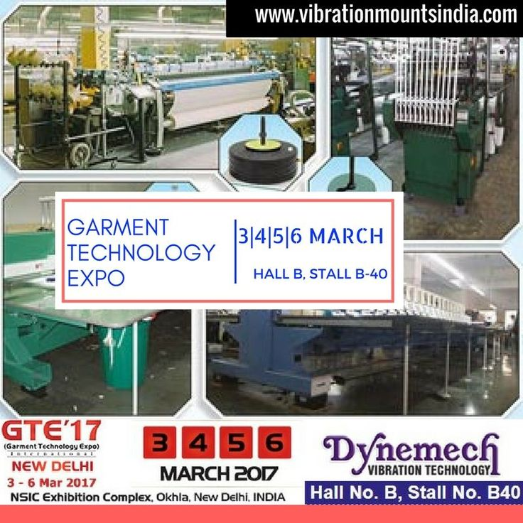 RT Dynemech Systems: #VIBRATIONDAMPING solutions 4 Circular #Knitting Machines, Label Making & Industrial Washing Machines Meet us anthony beastall b-40 @gte2017 #dynemech pic.twitter.com/GBIngGT6bR