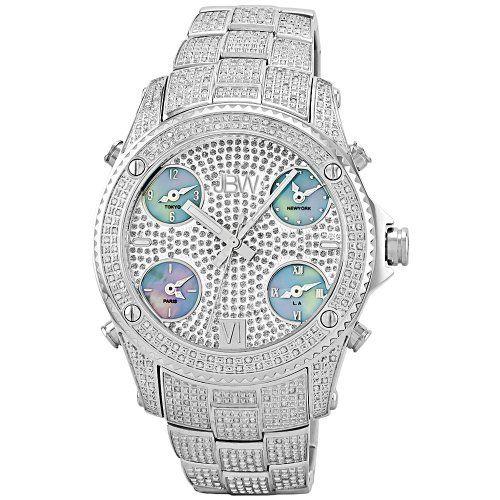 """JBW Men's JB-6213-C """"Jet Setter"""" Silver Stainless Steel Five Time Zone Diamond Watch by JBW, http://www.amazon.ca/dp/B0036B9PI8/ref=cm_sw_r_pi_dp_u3i4sb0HWP1Q8"""