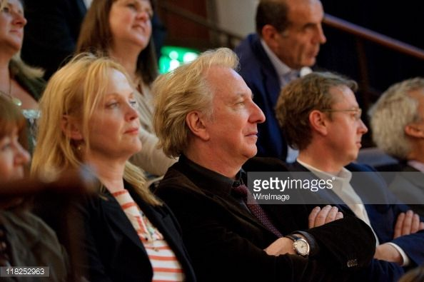 "the life images collection/getty images | Rita Horton (glimpse), Miranda Richardson Alan Rickman and Geordie Greig attend ""Independent 'Independent Voices 5x15: Hacked Off with Free Speech"" at the Royal Institute of Great Britain on July 5, 2011 in London, England. Ruby Wax was one of the performers"