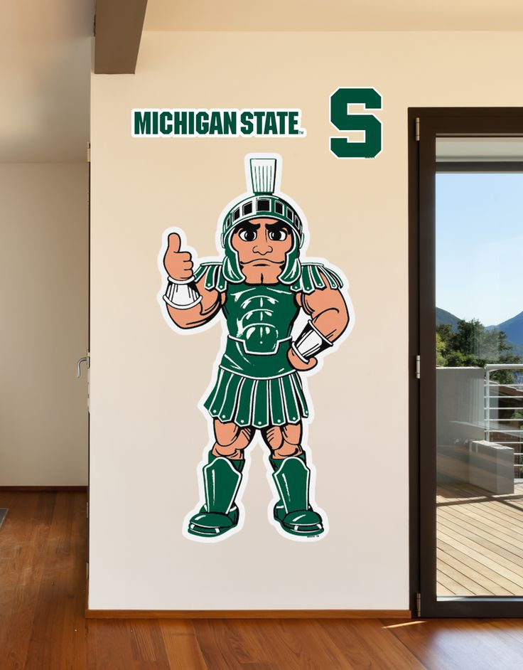 Michigan State Sparty Mascot - Life Sized Wall Decal