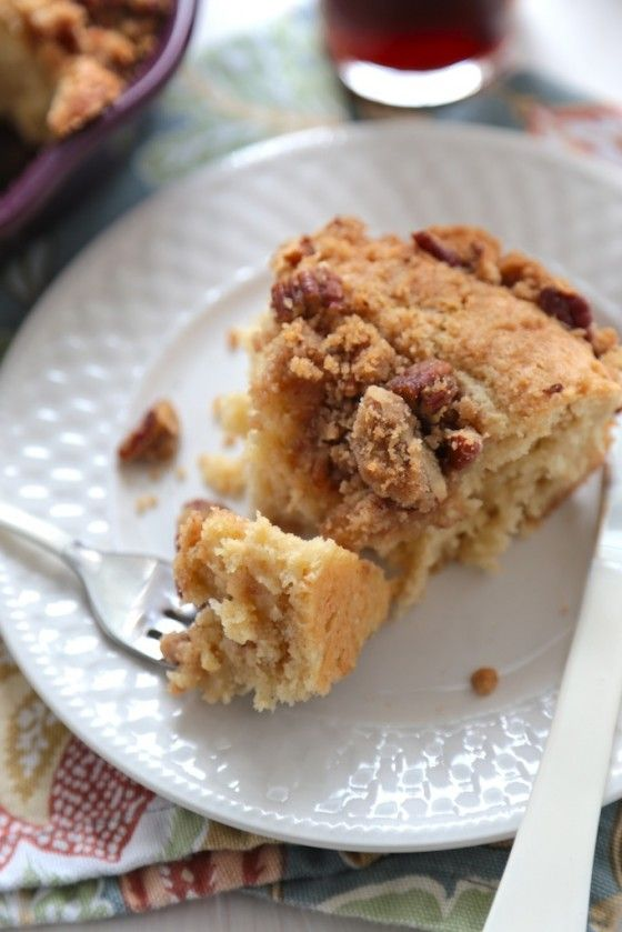 World's BEST Coffee Cake with Buttermilk Syrup - www.countrycleaver.com @Megan {Country Cleaver}