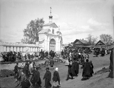 Базар в селе Бор Семеновского уезда Нижегородской губернии. Дмитриев Максим Петрович, 1894 г.