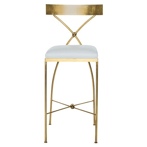 Gold Leaf Bar Stools And On Pinterest