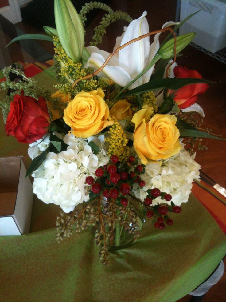 Lively Fall flower assortment