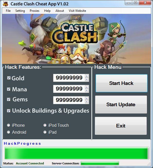castle clash hack android