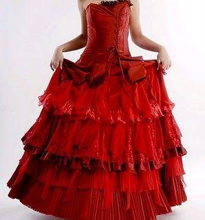 Sugestão de modelo de vestido ou saia para a Pomba Gira Sete Saias  do sitehttp://www.redweddingdress.biz/2010/10/gothic-wedding-dresses-f...