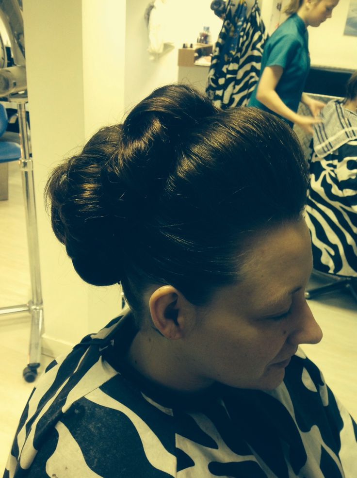 Smooth coiled hair up using clip ins