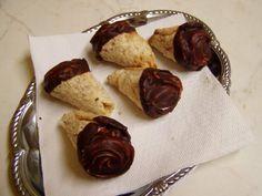 Ořechové kornoutky