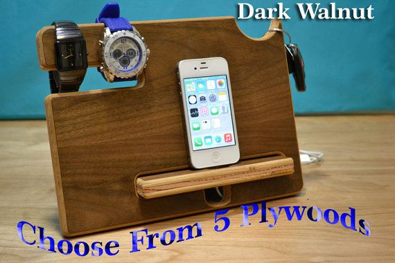 Anniversary Gifts for Men, Fathers Day Gift, Gift For Dad, iPhone Docking Station, Mens Gift, Birthday Gifts For Him, Boyfriend Gifts