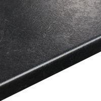 38mm B&Q Basalt Slate Textured Laminate Round Edge Kitchen Worktop