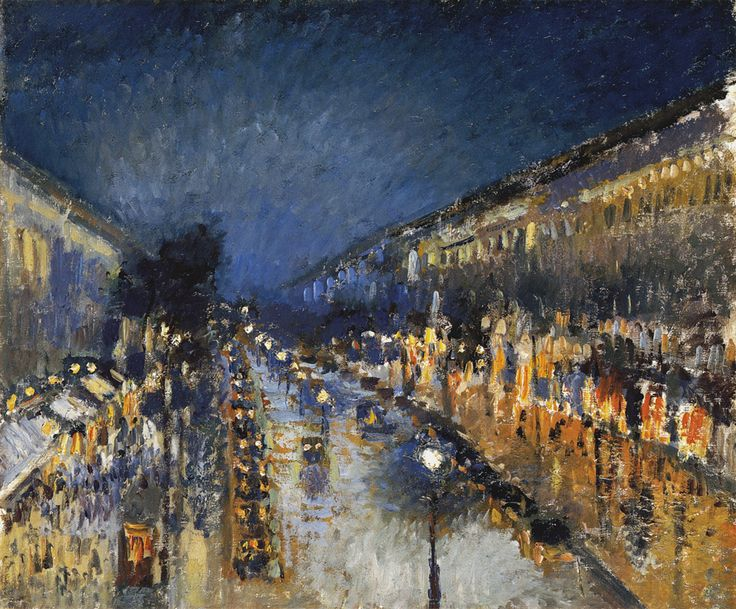 Camille Pissarro, Boulevard Montmartre at Night, 1897