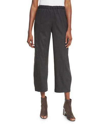 Eileen+Fisher+Stretch+Wool+Lantern+Ankle+Pants+Plus+|+Clothing