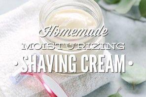 Homemade Moisturizing Shaving Cream