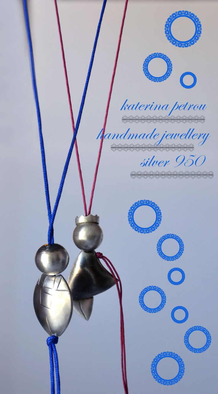 """Theo & Kat"" Handmade Necklaces, Silver 950 https://www.facebook.com/katpetrou.jewellery"