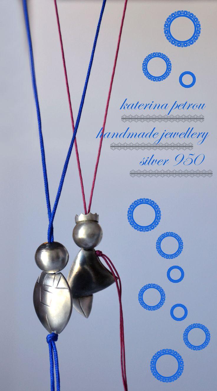 """Theo & Kat"" Handmade Necklaces, Silver 950 https://www.facebook.com/katpetrou.jewellery"