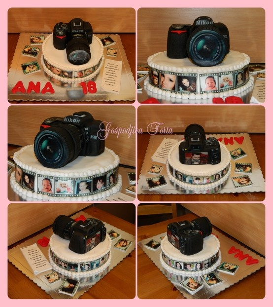 This is nice...the pics along the side could be pics of family and friends. I obviously don't have one of those edible printers, but we could attach non-edible pics that would have to just be pulled off....or maybe I could find a local baker that could print just the pics for me?