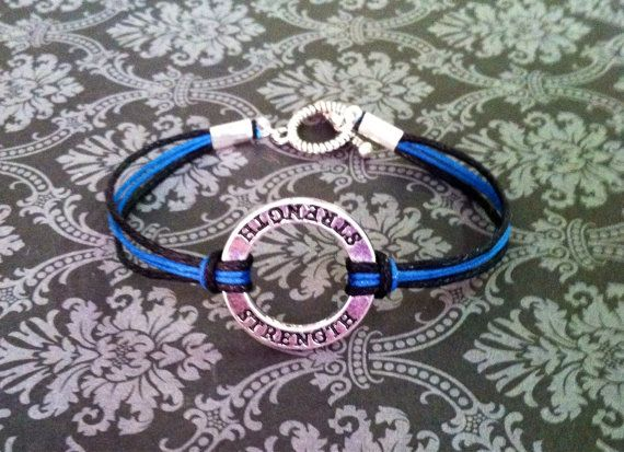 Hey, I found this really awesome Etsy listing at https://www.etsy.com/listing/200455523/thin-blue-line-strength-bracelet