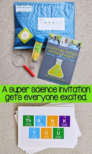 TPcraft.com: Mad Science Birthday Party Invitations