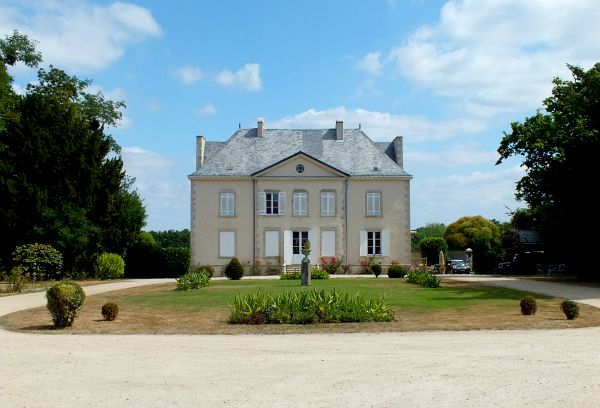 La Garangeoire, a campsite set in the grounds of a manor house in Vendee, France.