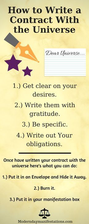 How To Write A Contract With The Universe For Manifesting Abundance