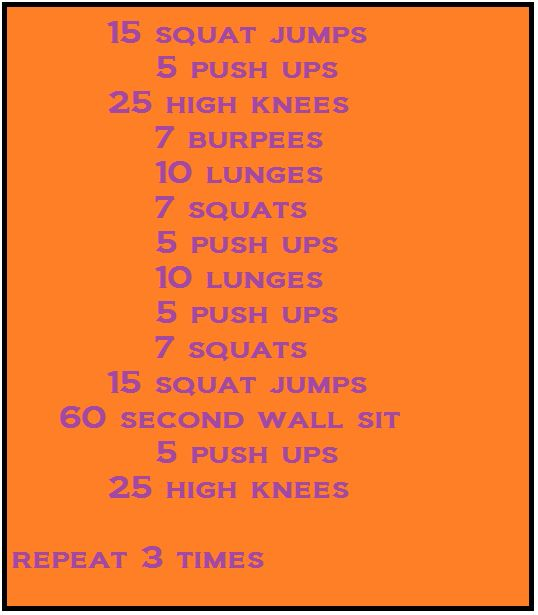living room circuit workout