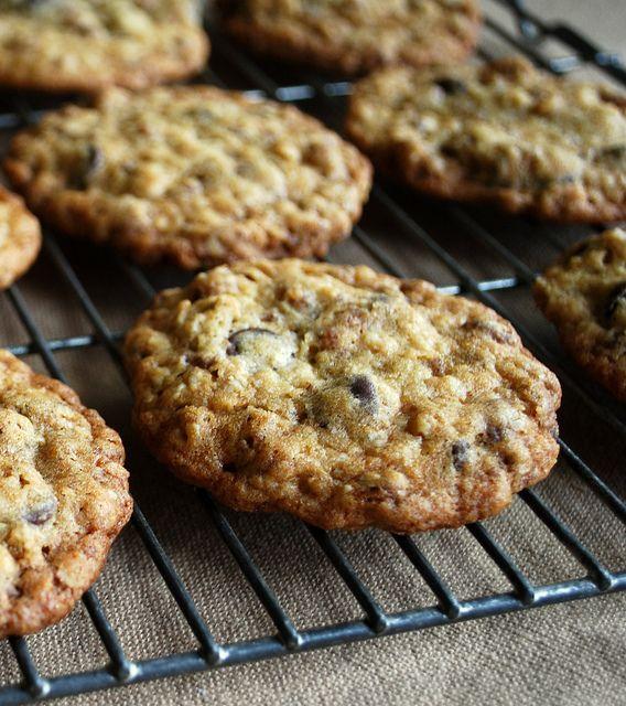 Ranger cookies -- oatmeal, rice krispies or corn flakes, coconut, dried cranberries