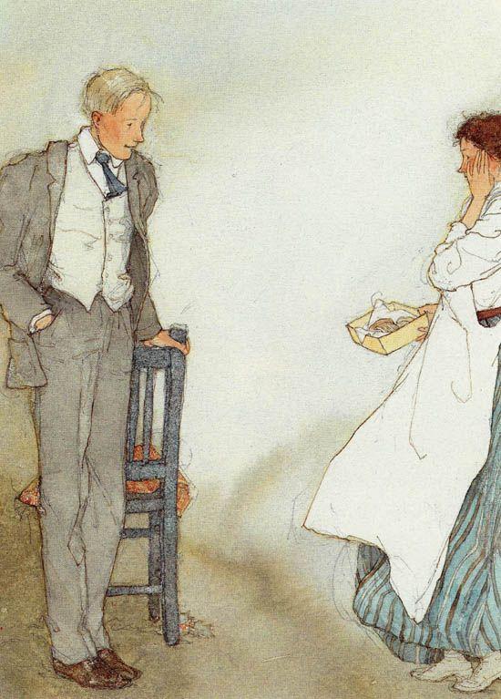 "Ilustrações ""The Gift of the Magi"" • Lisbeth Zwerger"