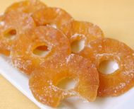 Sweet and Chewy Candied Pineapple Recipe... use this instead of the chemically-laced candied pineapple from the grocery store