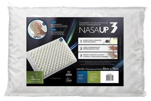 travesseiro nasa up3,gomos massageadores, antiácaro,fibrasca