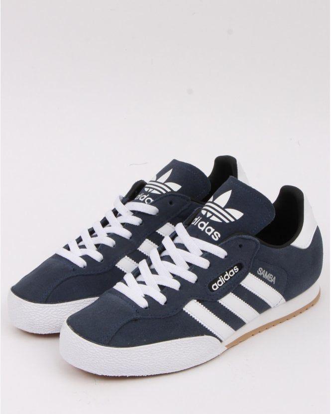 Adidas Samba Super Trainers Navy/white