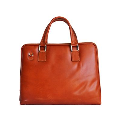 Ladies Tan Leather Briefcase Handbag - RRP: £84.99, our price - £59.99