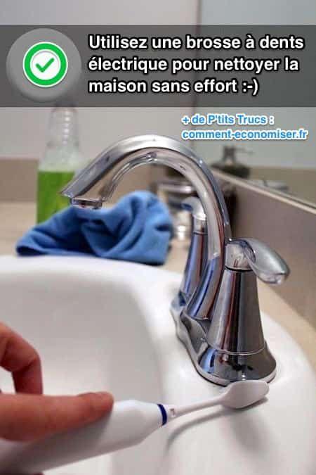 Les têtes usagées des brosses à dents électriques font aussi des miracles pour nettoyer la cuisine, la salle de bain et les carreaux. Le nettoyage est encore plus rapide et plus en profondeur qu'avec une brosse à dents manuelle. Regardez :-)  Découvrez l'astuce ici : http://www.comment-economiser.fr/utiliser-brosse-dents-electrique-pour-nettoyer-recoins.html?utm_content=bufferda9ea&utm_medium=social&utm_source=pinterest.com&utm_campaign=buffer