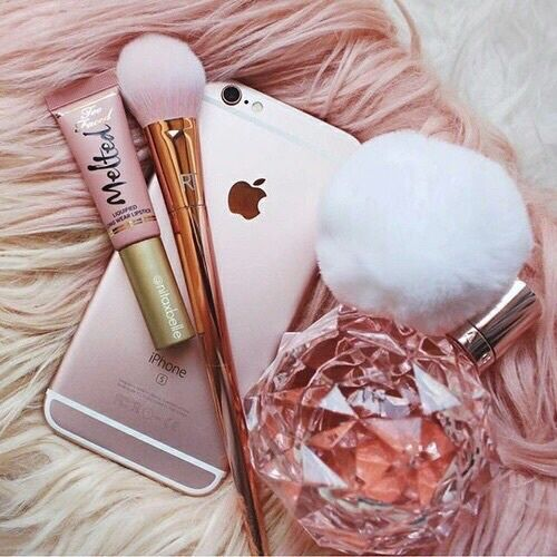 ariana grande, by, goals, iphone, make up, perfect, perfume, pink, rose gold, tumblr, sri